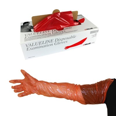 Picture of Arm Length Gloves - Red