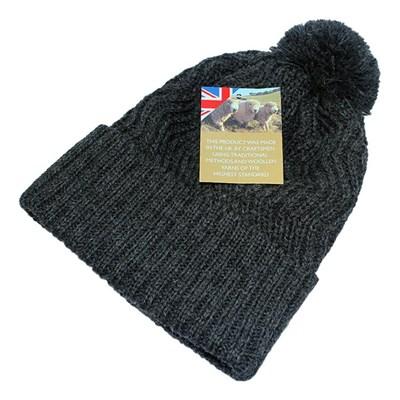 Picture of British Wool Hat - Grey Zig Zag