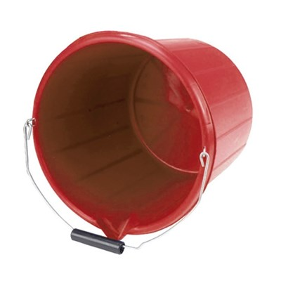 Picture of Hoof Proof Bucket  - 15 l Red