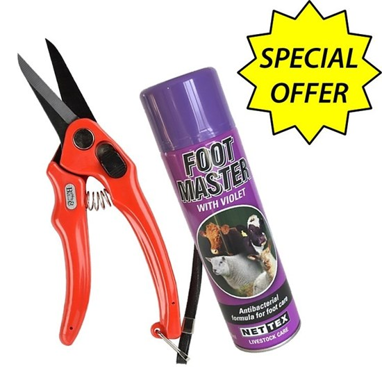 Picture of Serrated Footrot Shears + Purple Spray - Special Offer