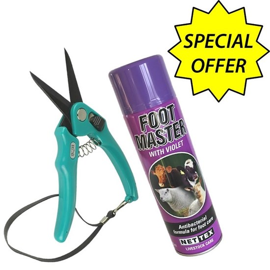 Picture of Supersharp Footrot Shears + Purple Spray - Special Offer