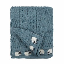 Picture of British Wool Throw - Summer Storm