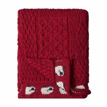 Picture of British Wool Throw - Red