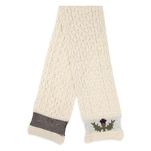 Picture of British Wool Scarf - Thistle Ecru